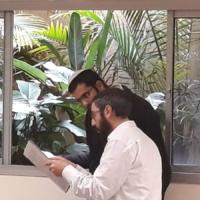 הרב נחמיה הלוי והרב יואל ביסראור בלימודם